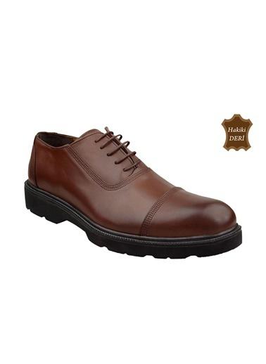 Wolfland Hakiki Deri Bağcıklı Ayakkabı Kahve